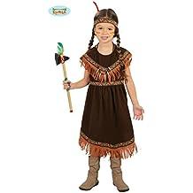 Disfraz de India marrón oscuro para niñas