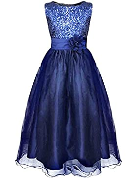 YiZYiF Blumen-Mädchen Kleid Pail