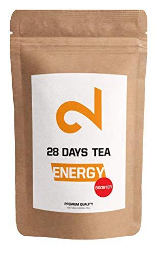 DUAL Energy - Booster Tea 28 jours|Thé Énergie|100% Naturel|125g de Thé en Vrac|Saveur...