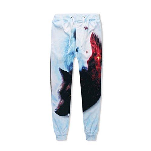 Hip Hop Jogger Hosen Männer Frauen 3D Sweatpants EIS Feuer Wolf Printed Hosen Trainingshosen Kausale Herren Kleidung Hosen S -