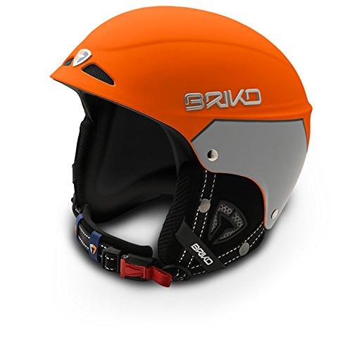 Briko Snowy Casque avec calotte en ABS L Arancione/Argento
