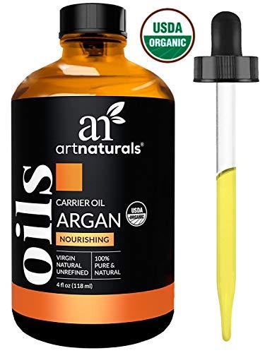 ArtNaturals Kaltgepresstes 100{b55ba0fbcb0ce36ba46a260c22cae9e894f4a78ea9af260eb4be770299a6a06f} Reines Arganöl aus Marokko - (4 Fl Oz / 120ml) - Argania Spinosa - Für Strapaziertes und Trockenes Haar sowie zur Hautpflege - Anti-Aging - Massageöl