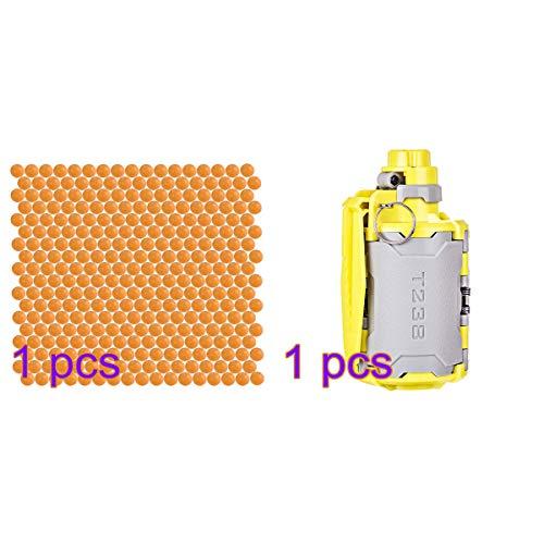 GUOGUO Water Bullet Bomb + 10000er 7,4 mm gehärtete Kugel Handgranate Wasserperlen Spielzeug Neuestes aktualisiertes zeitverzögerter Funktion Design CS Nerf Spiele Airsoft Paintball Granate