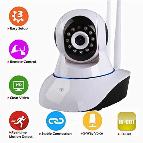 Febelle Video-Kamera für Babys, 720P HD, kabellos, WiFi-Webcam, Haustier-Monitor, 360 Grad Überwachung IP (Video-baby-monitor Wifi)