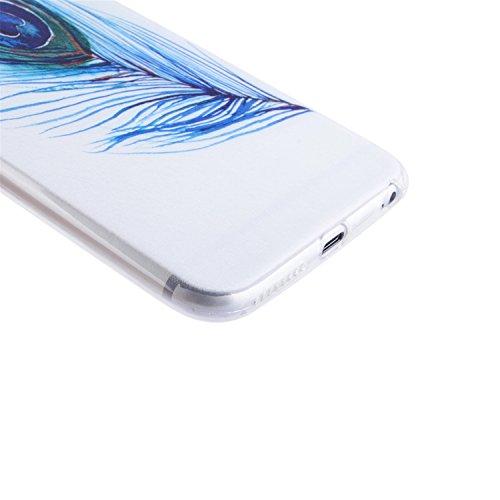 iPhone 6 hülle,iPhone 6S Case, Cozy Hut Kratzfeste Plating TPU Silicone Case Schutzhülle Ultra Dünn Tasche für mit iPhone 6 6S (4,7 Zoll) Hülle Case Transparent - Flamingos Pfauenfedern