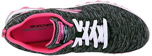 Skechers Air 2.0Sweet Life, Baskets Basses Femme Noir - Noir (Bkhp)
