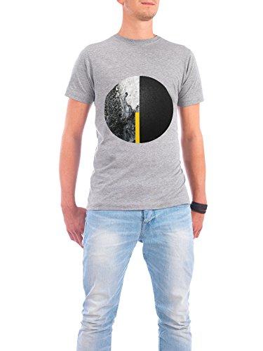 "Design T-Shirt Männer Continental Cotton ""Black and Yellow Minimalist"" - stylisches Shirt Abstrakt Geometrie von Linsay Macdonald Grau"