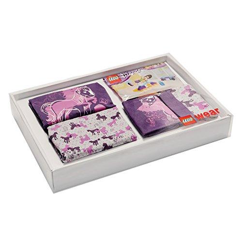 LEGO Wear Mädchen Unterwäsche-Set Lego Girl Friends Nachtwäsche Geschenk-Box, Violett (Dark Purple 696), 122 (Olivia Schlafanzug)