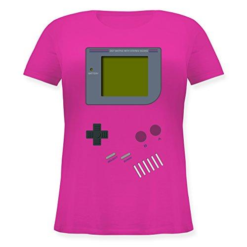 Nerds & Geeks - Gameboy - M (46) - Fuchsia - JHK601 - Lockeres Damen-Shirt in großen Größen mit Rundhalsausschnitt
