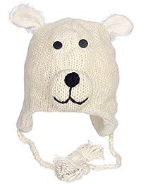DIVERTENTE POLARE ORSETTO ARTIGIANALE INVERNO LANA ANIMALE Cappello con  fodera in pile 4b1774dc71b3