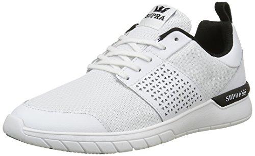 Supra Herren Scissor Sneaker Blanc (White Black Aqua)