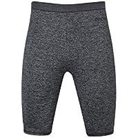 Eono Essentials - Pantalones cortos elásticos de compresión para hombre (gris jaspeado, S)
