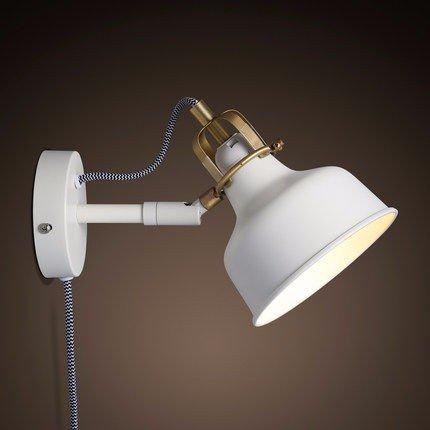 GK-die amerikanische country - style der mauer lampe einfache wohn - und schlafzimmer mit weißen retro - rocker lampe wall lamp (Der Weiße Country-rocker)