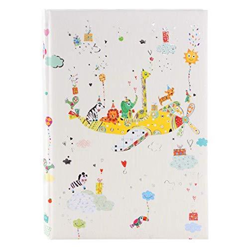 Goldbuch Babytagebuch, Baby on Tour, 21 x 28 cm, 44 illustrierte Seiten, Kunstdruck mit Silberprägung und Relief, Weiß, 11270