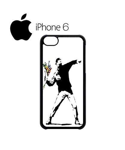 Banksy Flower Thrower Swag Mobile Phone Case Back Cover Hülle Weiß Schwarz for iPhone 6 White Weiß
