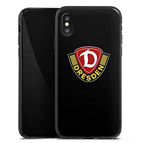 Apple iPhone X Silikon Hülle Case Schutzhülle Dynamo Dresden Fanartikel Bundesliga Silikon Case schwarz