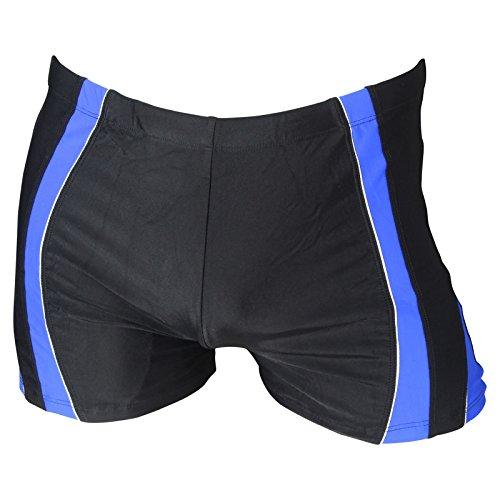 Herren Badehose Retro Badeshorts Größen M L XL 2XL ** viele Farb-Varianten ** 910 schwarz/blau