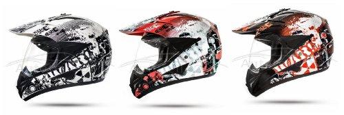 GS War Weiß Crosshelm mit Visier für Quad ATV Enduro Motorradhelm ECE 2205 Größe: M 57-58cm - 4