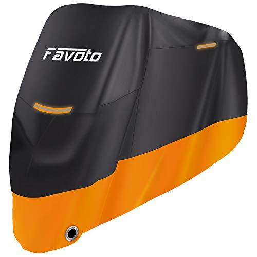 Favoto Funda Moto 210D Cubierta Motocicleta Protector