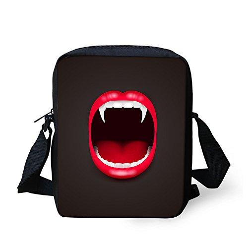 CHAQLIN Borsa Messenger, Halloween Pumpkin (nero) - CHAQLIN Vampire Mouth