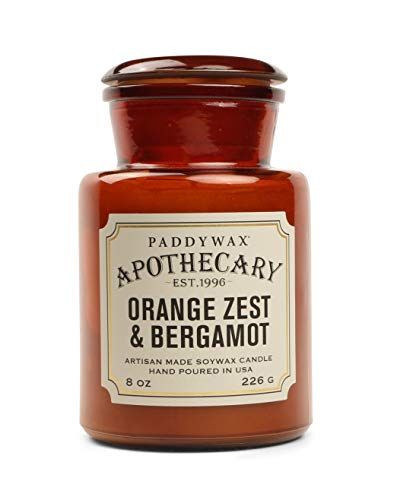 Paddywax Apothecary Collection, Jar Kerze, Meersalz/Salbei, 237 ml, Orange Zest & Bergamot, 8-Ounce -