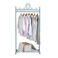 NEUN WELTEN Vintage Coat Clothes Racks Hanging Clothing Rail Shabby Chic Hanger