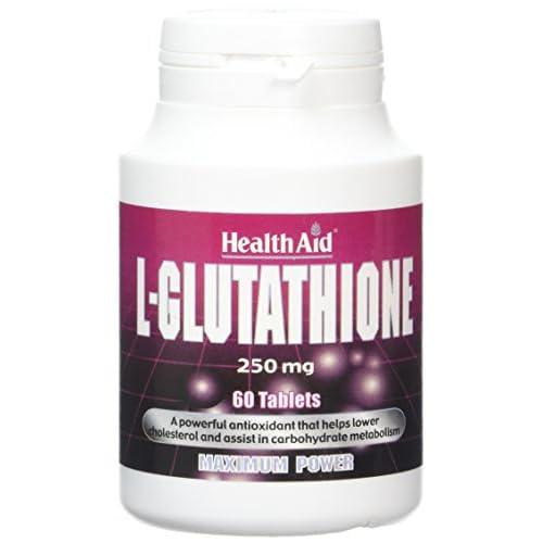41HiD6kgxzL. SS500  - HealthAid L-Glutathione 250mg - 60 Tablets