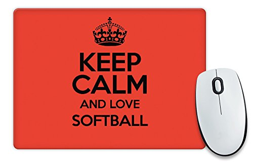 RED Keep Calm and Love Softball colore