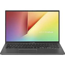 """ASUS VivoBook 15 S512UA-BR252T - Ordenador portátil de 15.6"""" HD (Intel Core i3-7020U, 4 GB RAM, 128 GB SSD, Intel HD 620, Windows 10 Home en modo S), Teclado QWERTY Español, Gris pizarra"""
