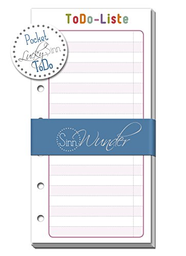 ToDo Listen passend zu den Kalendereinlagen von SinnWunder Design LuckySinn Format Pocket