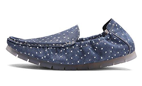 TDA ,  Herren Durchgängies Plateau Sandalen mit Keilabsatz Blau