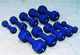 Bodybild Aerobic/Krafttraining Workout Sechskant Form Neopren Beschichtet Hantel Verkauft Als Einzeln (Trennen Gewichte) - 3kg