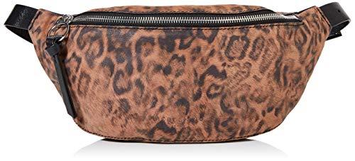 Liebeskind Berlin Damen Story Leopard-Belt Bag Umhängetasche, Mehrfarbig (Tiger`s Eye), 8x14x34 cm -