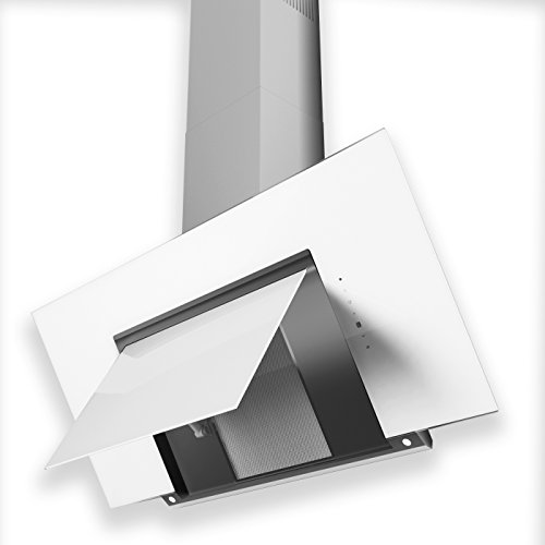 URBAN - HOTTE DECORATIVE MURALE M203-L/BL - LED - 700m3/h - Classe B - Verre Blanc