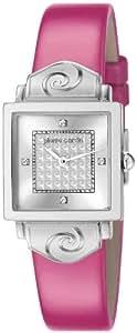 Pierre Cardin - PC106012F03 - Chérie - Montre Femme - Quartz Analogique - Cadran Argent - Bracelet Cuir Rose