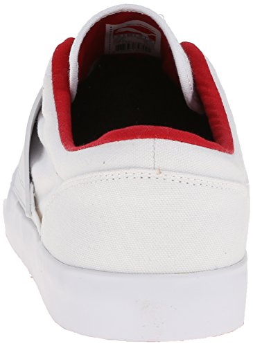 Puma El Ace 4 Txt Lace-up Fashion Sneaker White/High Risk Red