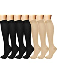 fbeac607db2ef2 arteesol Compression Socks for Women & Men 7 Pairs, Better Blood  Circulation, Graduated Athletic
