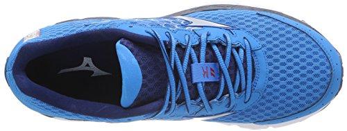 Mizuno Wave Inspire 11 Chaussures De Sport, Hommes, Divablue / Argent / Tomate Divablue / Argent / Tomate