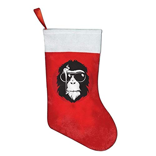 LoveBiuBiu Christmas Stockings Cool Smoking Monkey Felt Party Accessory
