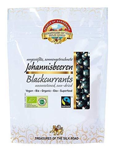 Bio Johannisbeeren schwarz 700g sonnengetrocknet, roh, aus Usbekistan ungesüsst, ungeschwefelt, naturbelassen, Rohkost 7x100g Vorteilspackung