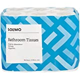 Amazon Brand - Solimo 3 Ply Toilet Paper/Tissue Roll - 160 Sheets (Pack of 12)