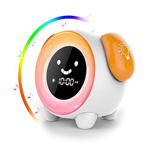 Despertador Infantil - 2019 Niños Entrenador de Dormir LED despertador luz Digital, 2400mAh Recargable...