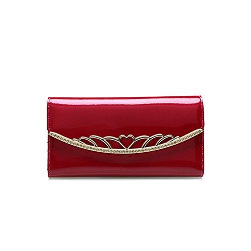 PU Piega Lunga Pelle moda donna Portafoglio borsa Ecopelle Wallet raccoglitore Pocket Portamonete Rose
