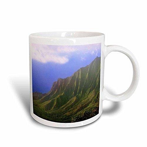 3dRose USA, Hawaii, Kauai Landschaft der NA Pali Produktseite, Kalalau Overlook-Magic verwandelt Becher, Keramik, Schwarz/Weiß, 10,16x 7,62x 9,52cm