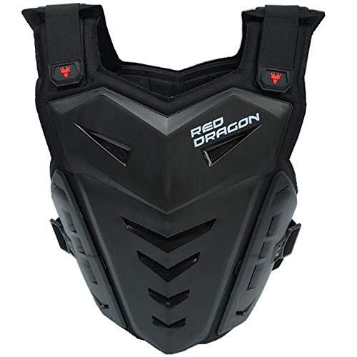 ALZHP Motocross Giacca, Moto Protezione, Spina Dorsale Protezione Professionale, per Motocross, Motociclismo, Mountain Bike, Skateboard E Snowboard,Black