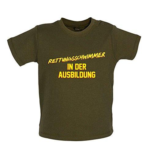 Rettungsschwimmer in der Ausbildung - Baby T-Shirt - Grün Camouflage - 12 bis 18 Monate (Rettungsschwimmer-ausbildung)