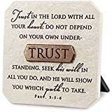 """Lighthouse Christian Products Trust Title Bar Plaque, 3 3/4 x 3 3/4"""", Bronze"""