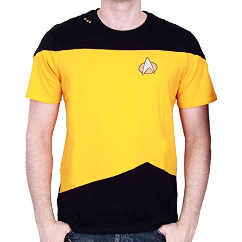 STAR TREK - T-Shirt NEXT GENERATION Yellow Uniform (L) : TShirt , ML (Next Uniform Generation Shirt)