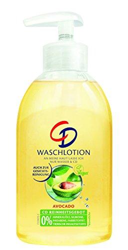 CD Avocado Waschlotion im Pumpspender, Pflegende Lotion für eine feuchtigkeitsspendende Reinigung, Vegan und seifenfrei, 3er Vorratspack (3...