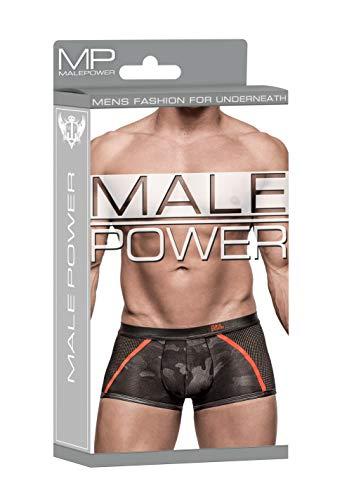Male Power Black Camo Sportnetz Short - Schwarz - Large (Male Power-camo)